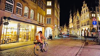 [4K] Evening Walk in Münster City Germany 2021 - Silent Walking Tour