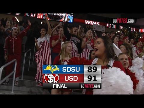 MBB Highlights: South Dakota 91, SDSU 89