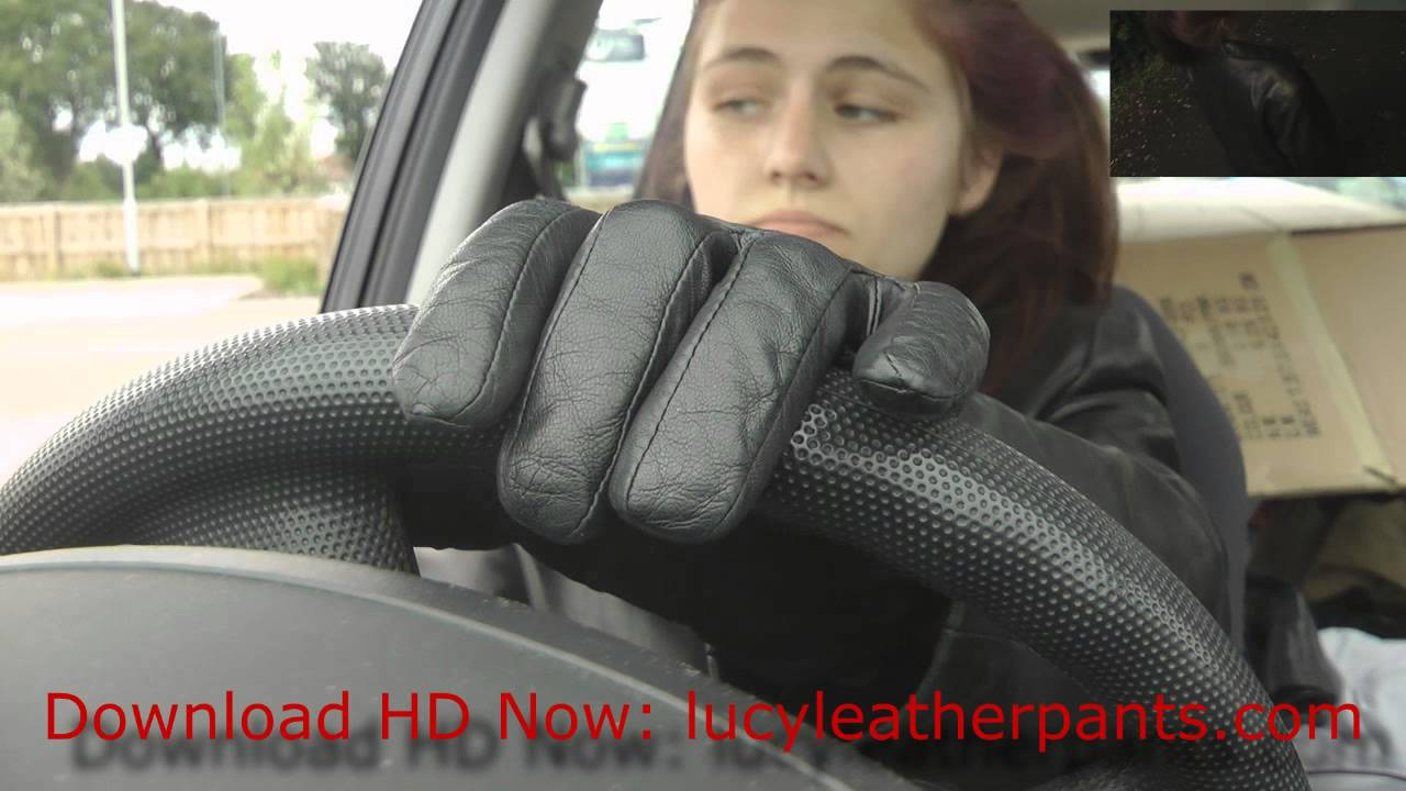 Ladies in leather gloves and boots - Girl In Leather Gloves Pants Jacket Boots