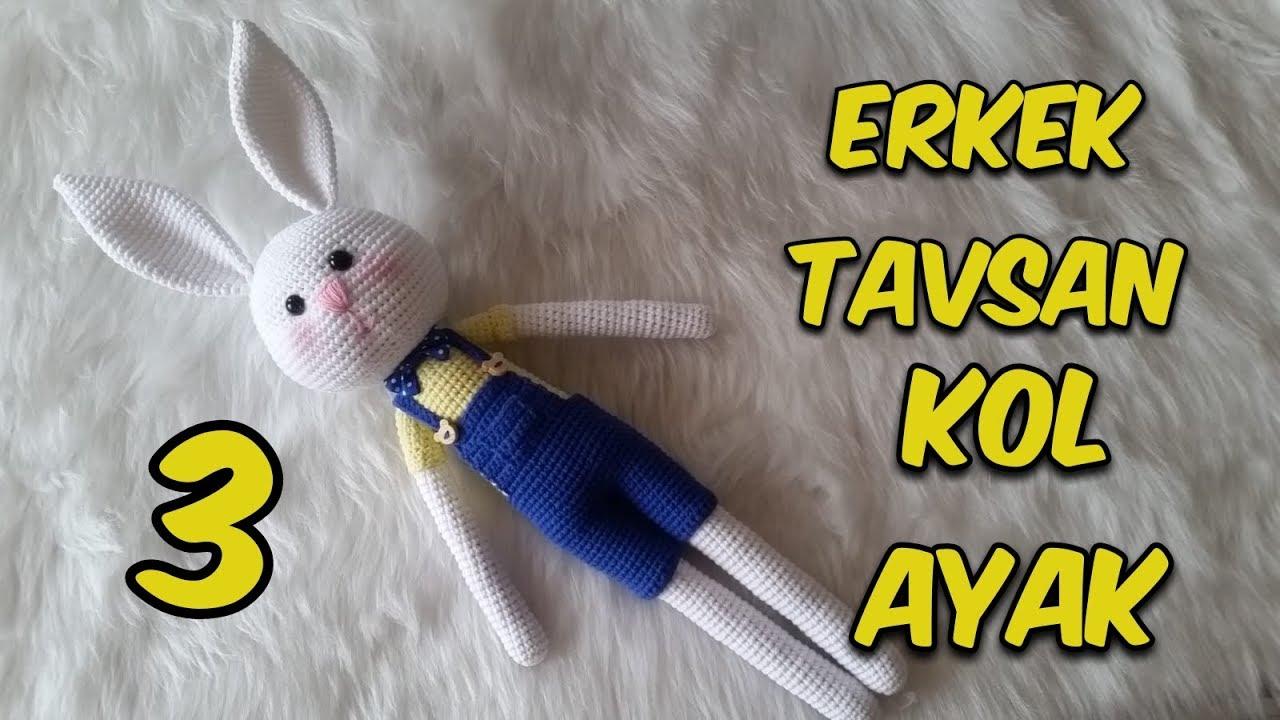 Amigurumi Erkek Tavşan 3 (Kol & Bacak)