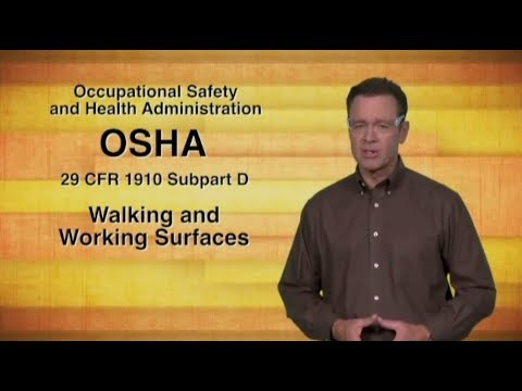 The OSHA Standard for Walking Working Surfaces - Safety Training Video