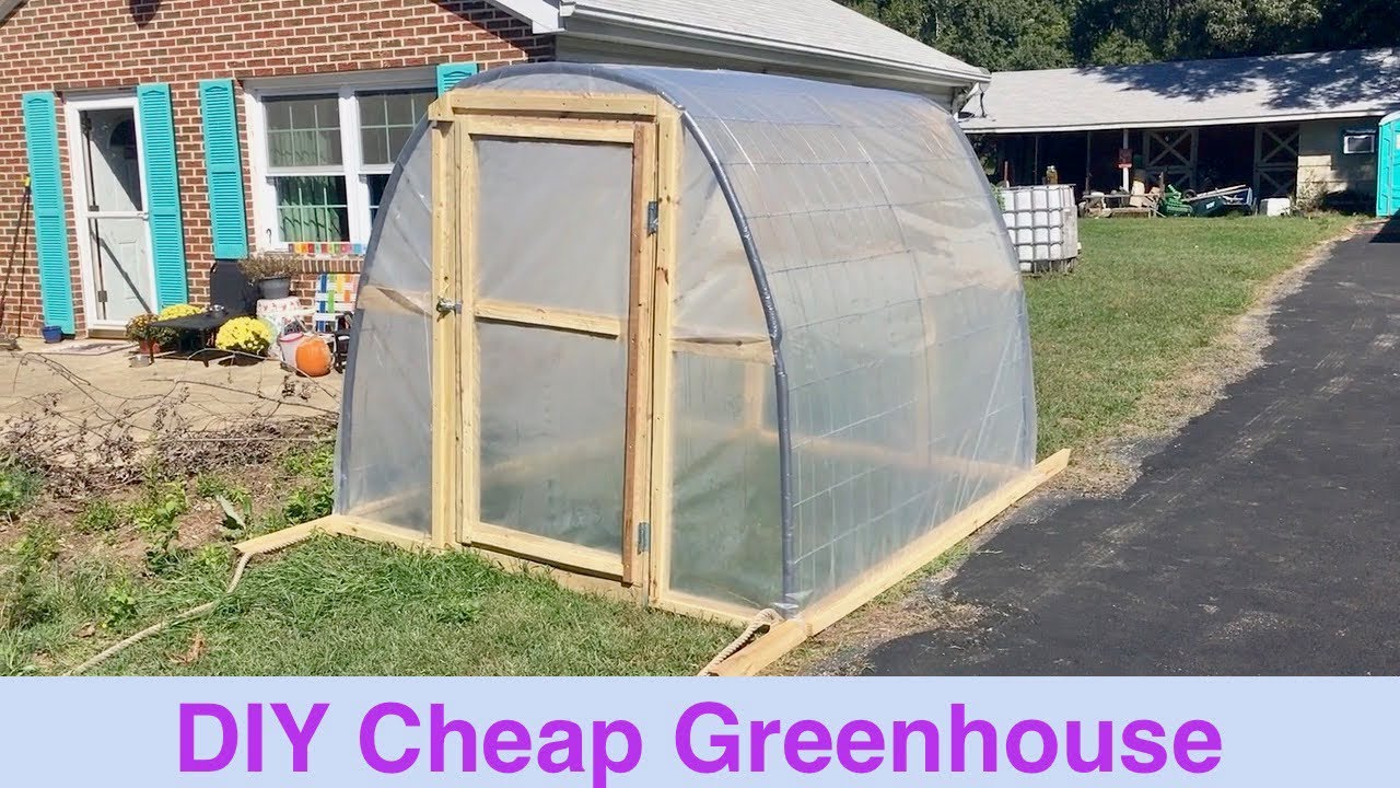 Diy cheap greenhouse youtube solutioingenieria Gallery