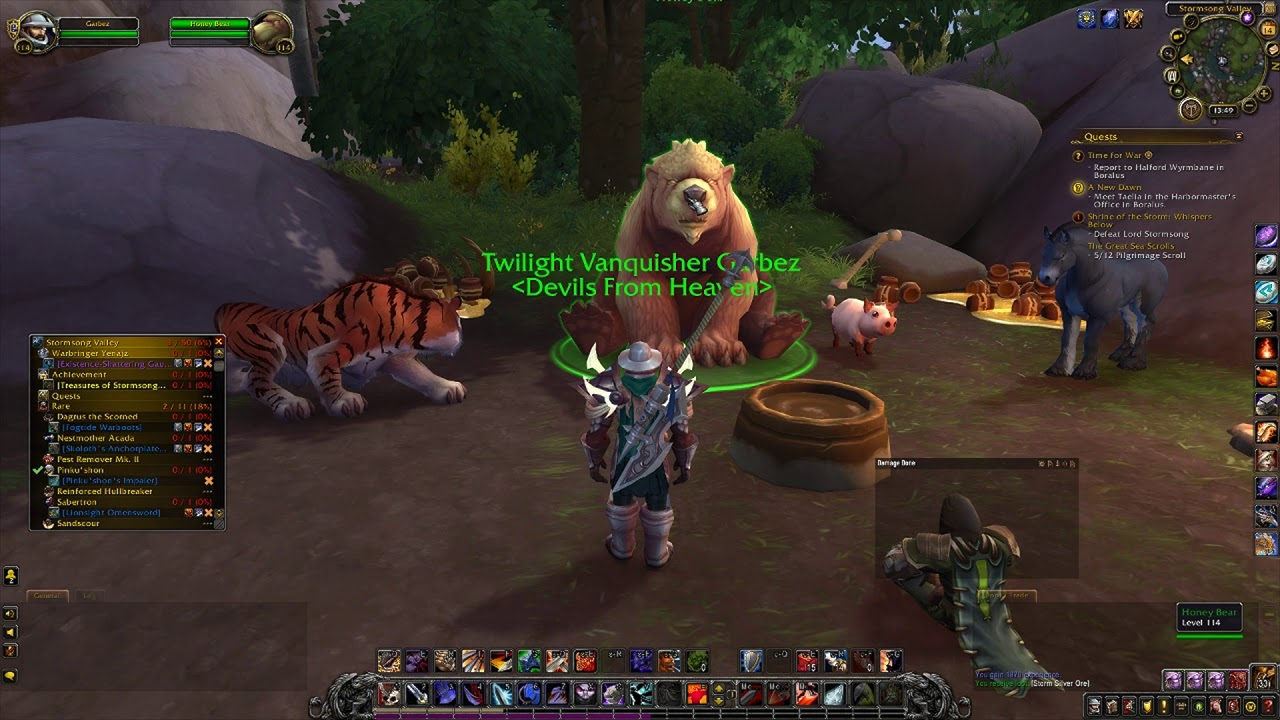 wow battle report Winnie the Pooh Easter Egg - World of Warcraft: Battle for Azeroth ...