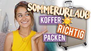 KOFFER PACKEN - eine Woche Sommerurlaub: MEINE PACK-TIPPS ☀️ | SNUKIEFUL