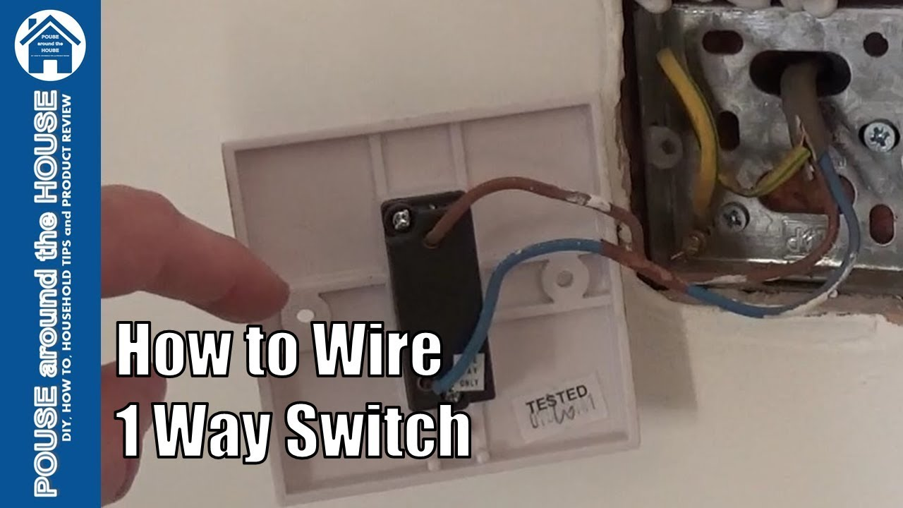 How To Wire A 1 Way Light Switch One Lighting Explained Youtube Wiring Diagram Uk Ceiling Rose