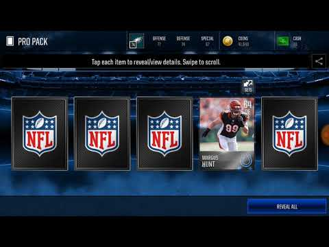 I pulled Gerald McCoy!!!! Pro pack opening madden mobile insane!!!!