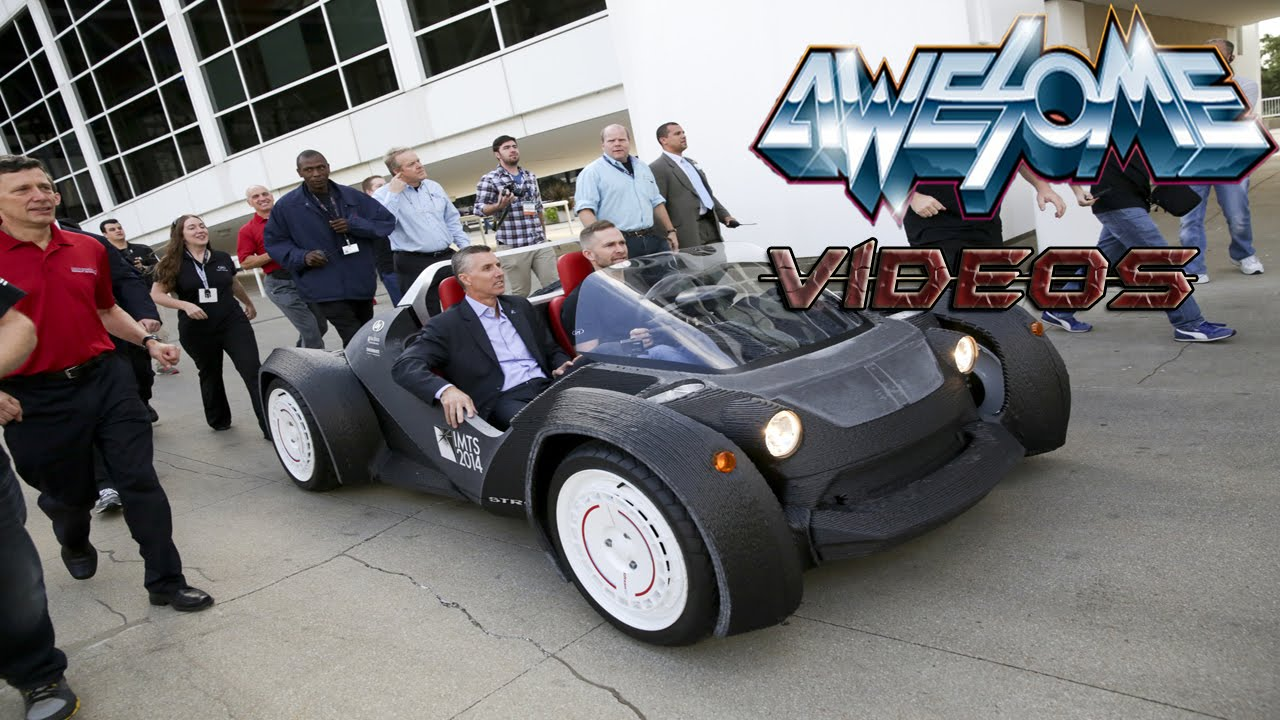 World\'s First 3D Printed Electric Car Made In Chicago! - YouTube