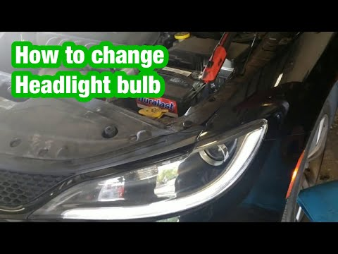 Chrysler 200 and dodge dart head lamp bulb replacement