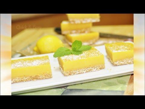 Lovely Lemon Bars Or Lemon Squares   No Bake   No Egg Video Recipe By Bhavna