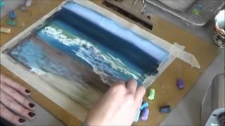 Рисуем океан пастелью
