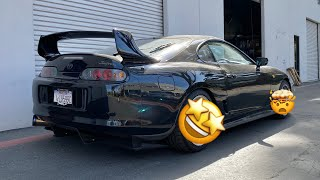 SUPRA GETS NEW WHEELS + C8 DELIVERY?