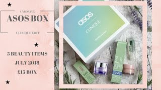 ASOS July 2018 Monthly Beauty Box Unboxing
