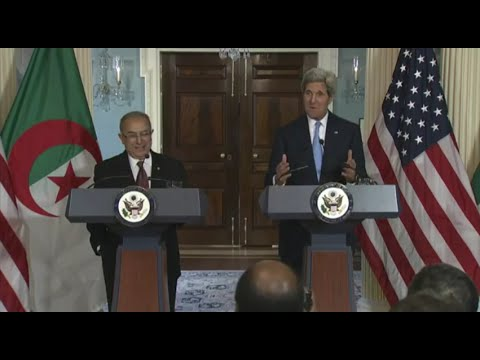 Secretary Kerry Delivers Remarks With Algerian Foreign Minister Lamamra