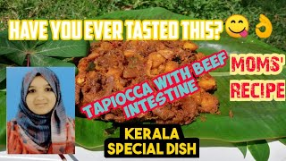 Tapiocca with beef intestine|Botty gravy| Kerala style dish|Kappa biriyani|Afisnotebook| In English.