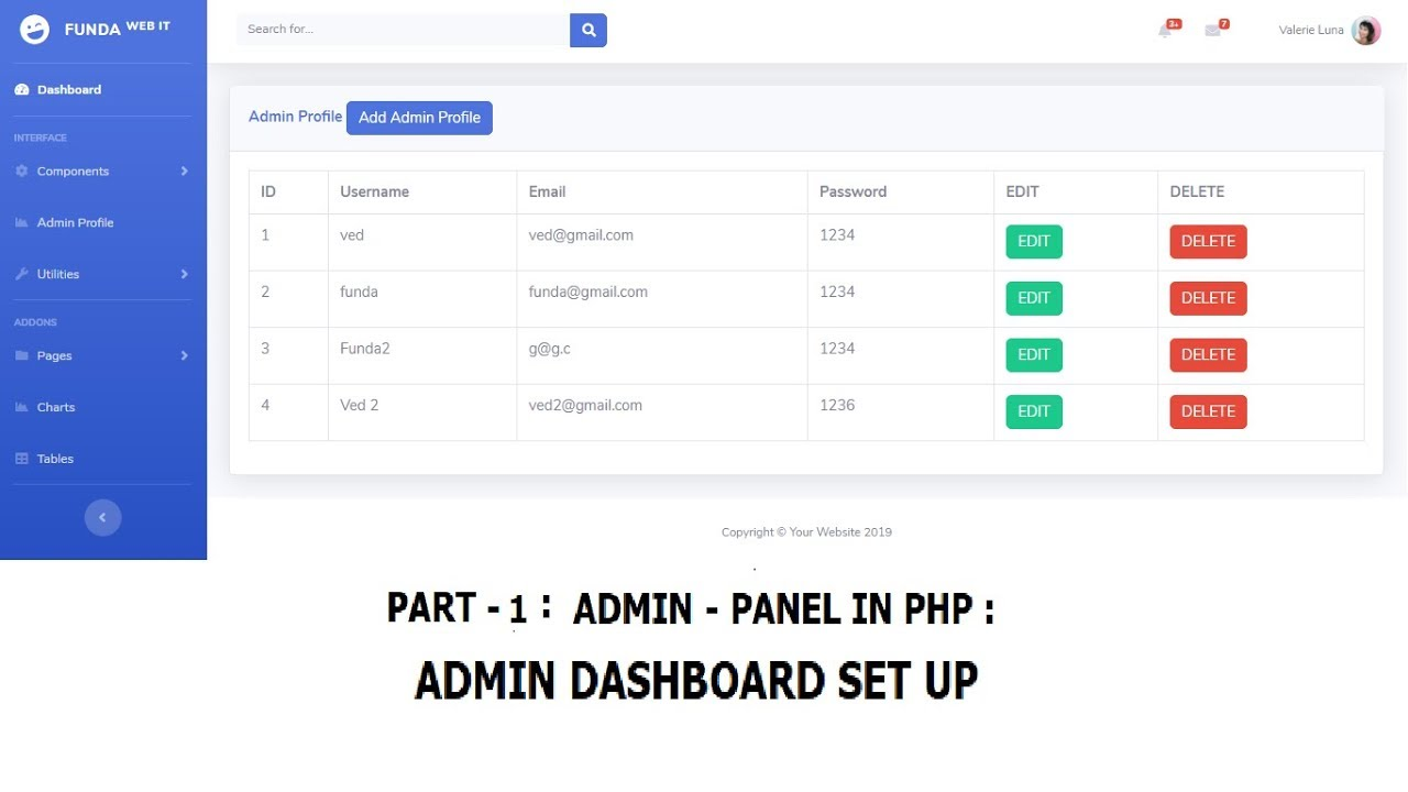 admin panel in php source code free download