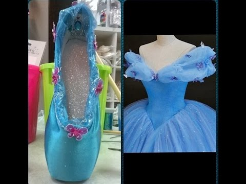 Ballet pointe shoe decorating youtube for Ballet shoes decoration