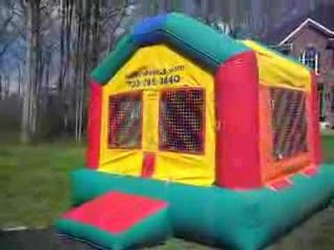 Crazy Fun House Bull Run Bounce Party Rental