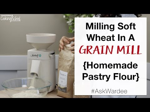 Milling Soft Wheat In A Grain Mill -- Homemade Pastry Flour | #AskWardee 131