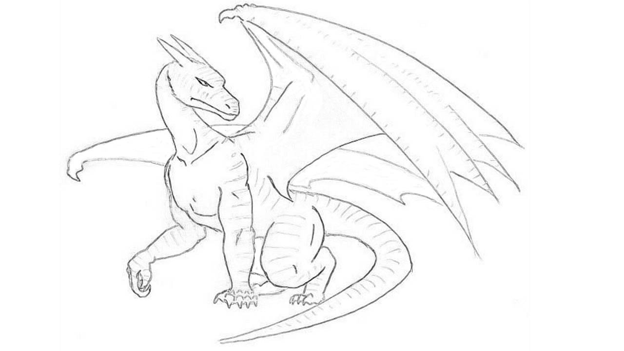 How To Draw A Dragon Step By