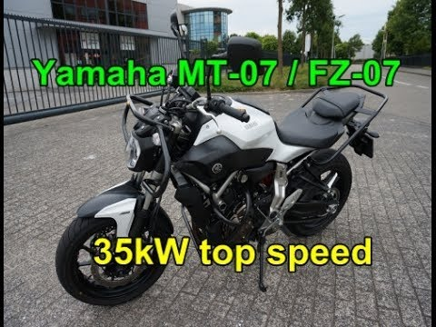 yamaha mt 07 fz 07 top speed a2 35kw youtube. Black Bedroom Furniture Sets. Home Design Ideas