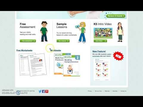 K5 Learning Screencast