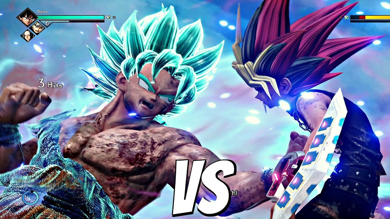 Jump Force Yugi Vs Goku Ssb Kaioken 1vs1 Gameplay Ps4 Pro Youtube