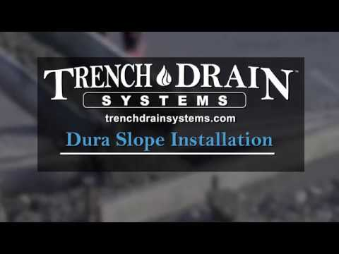 NDS Dura Slope Install | Trench Drain Systems