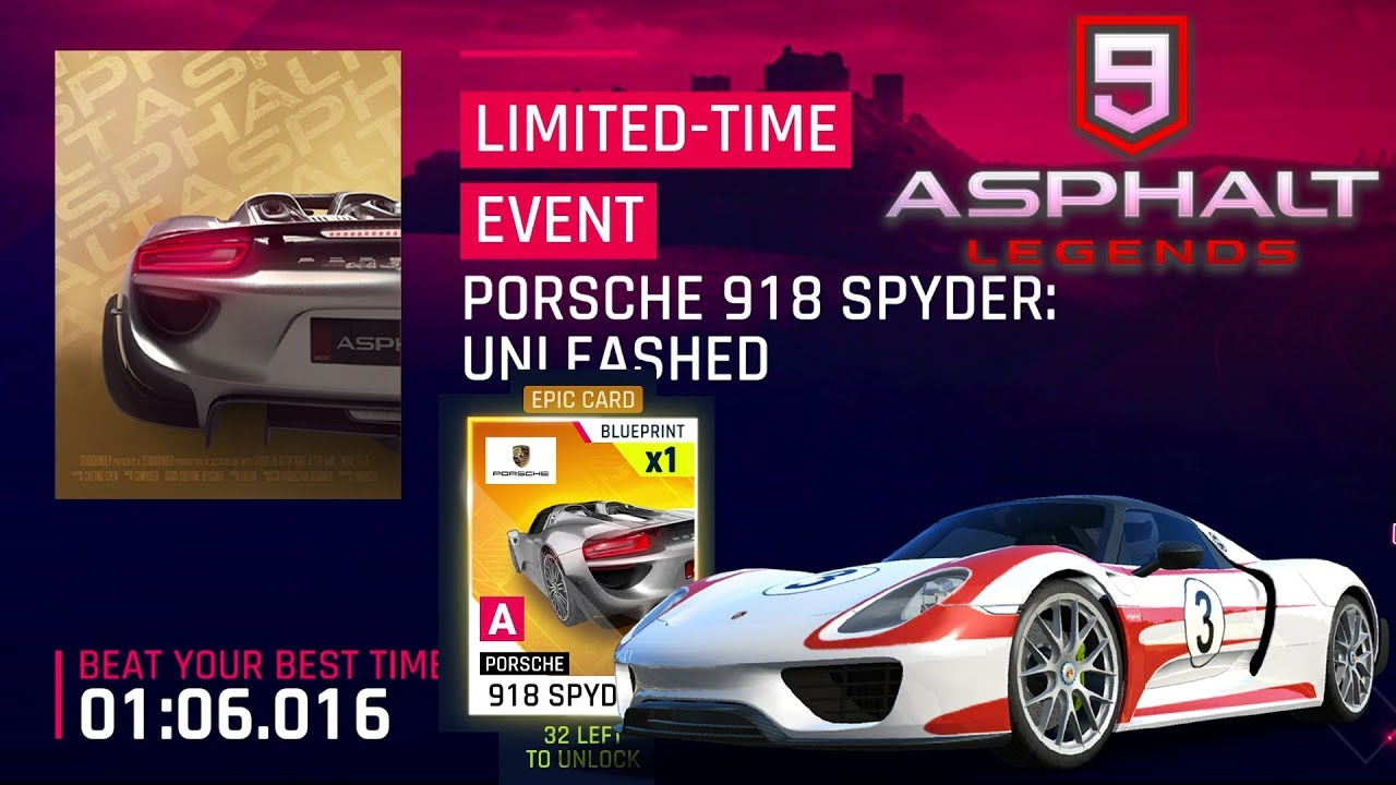 Asphalt 9 Porsche 918 Spyder Unleashed Event 1 9