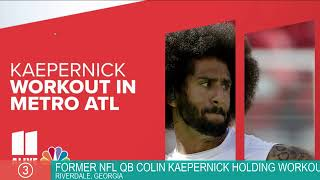 WATCH | Former NFL quarterback Colin Kaepernick holding workout in Georgia.