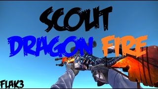 Scout Dragon Fire HD Para CS 1.6 | Com Sons do CS:GO! |