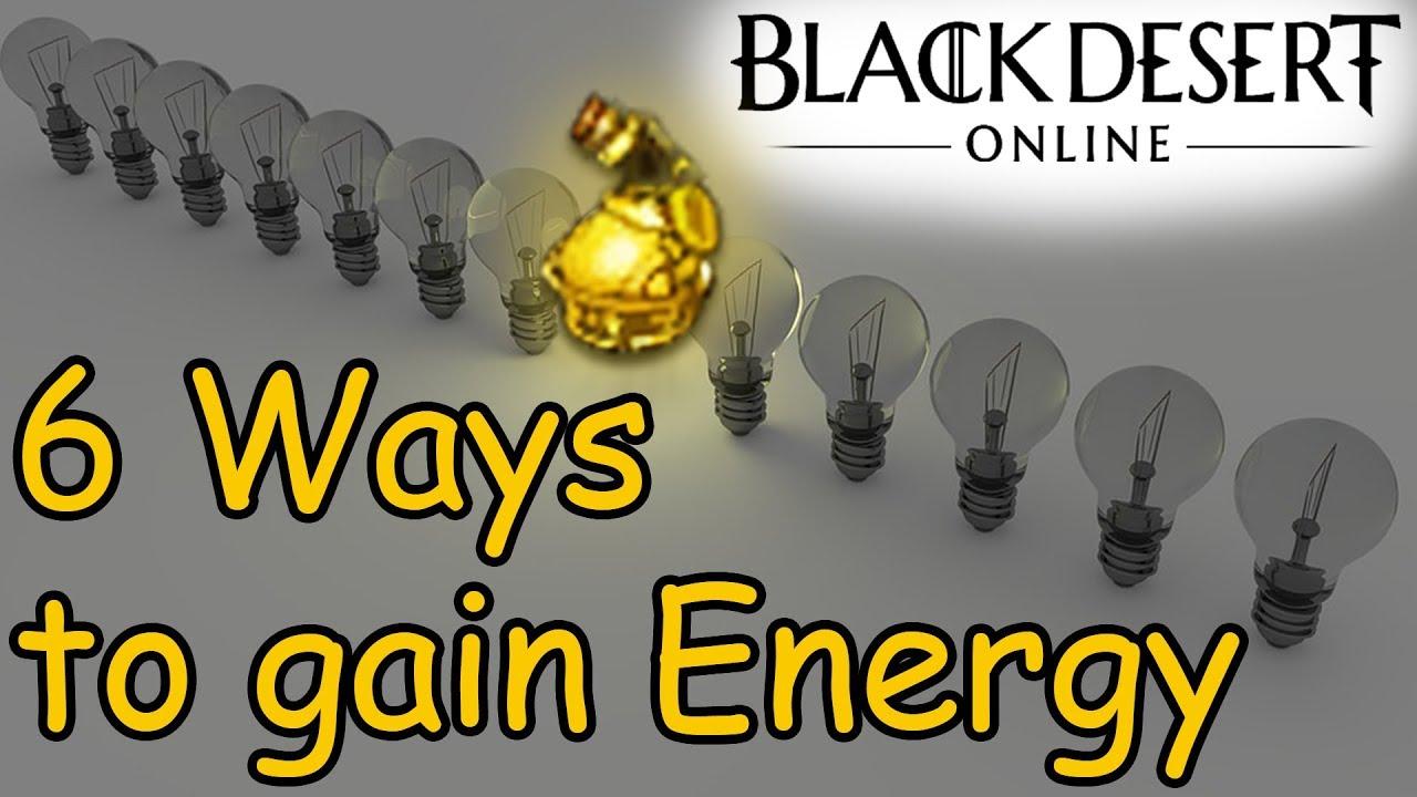 6 ways to obtain ENERGY in Black Desert Online
