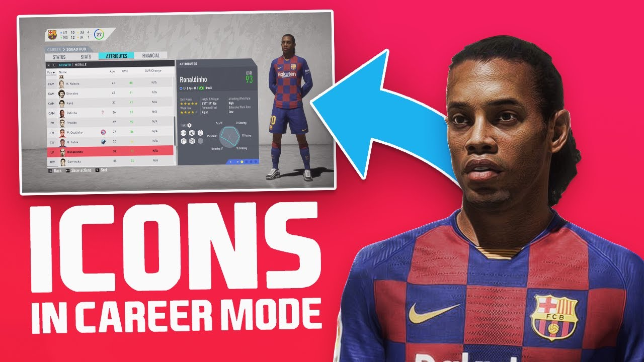 Using Fifa 20 Icons In Career Mode Youtube