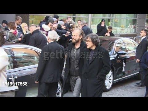 Hugo Weaving and Stephen Rea at Celebrity Sightings