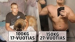 10 Vuoden Muutos Video | 100-150kg | Jesse Pynnönen