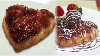 Sexy Dessert For Romantic Moment - Strawberry Upside Down Cake Valentine Video Recipe