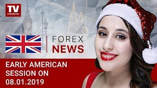 InstaForex tv news: 08.01.2019: USDX remains under pressure while US and China hold negotiations