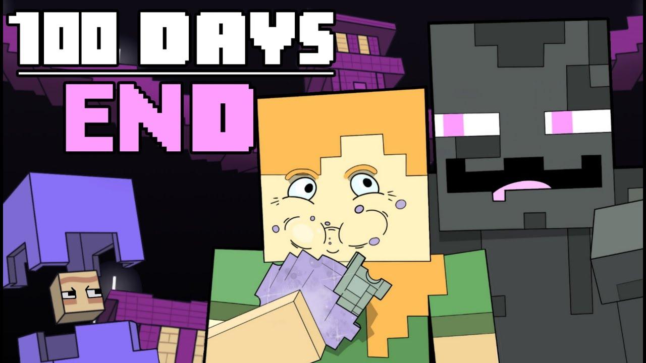 100 Days  Minecraft End