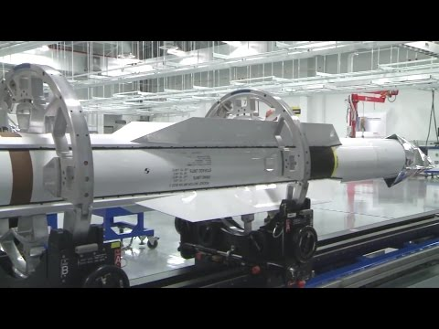 Raytheon - Standard Missile-6 (SM-6) Container Loading + SM-3 Disassembly & Auto Transport [1080p]