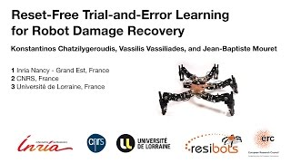Reset-Free Trial and Error for Robot Damage Recovery