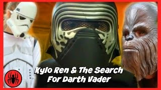 Kylo Ren & the search for darth vader new kids play star wars fun in real life comics fights movie