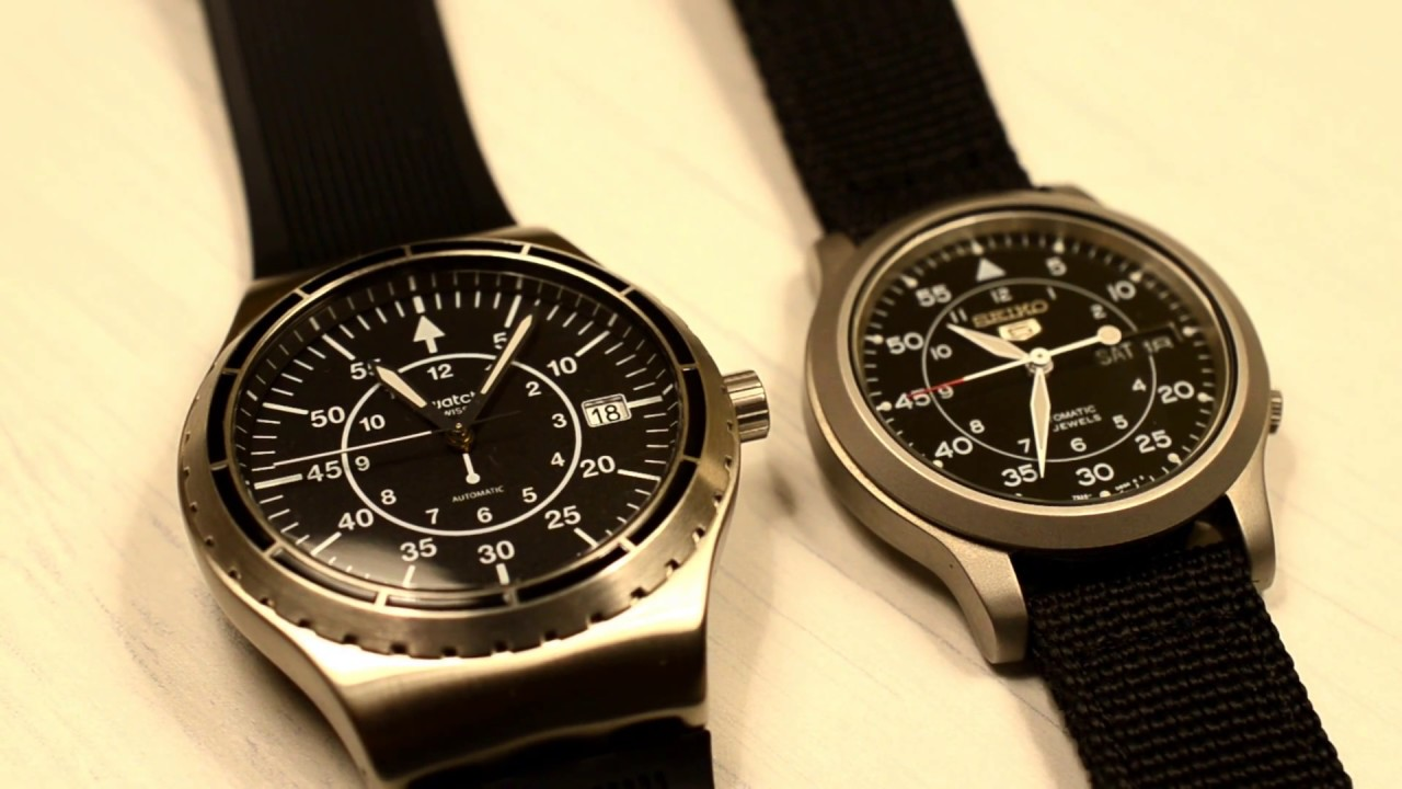 Swatch System 51 Vs Seiko 5 Youtube