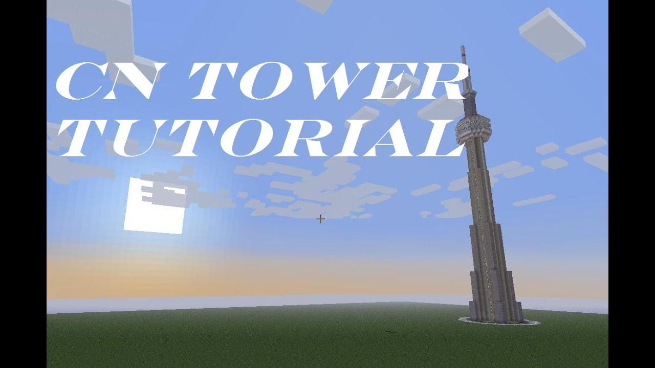 Minecraft Cn Tower Tutorial Youtube