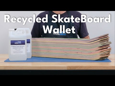 Recycled Skateboard Wallet