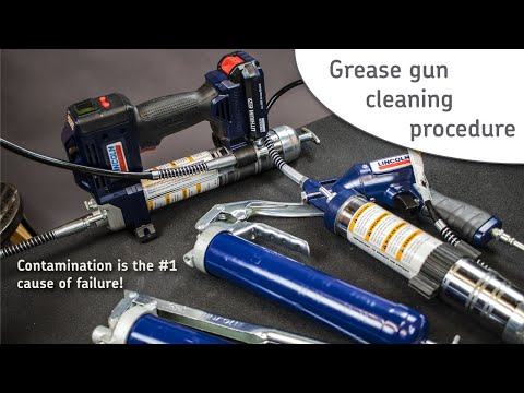 Lincoln Industrial how to: Grease gun maintenance cleaning procedure