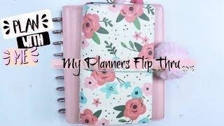 My Planner Flip Thru ⎜My Travelers Notebook, My A5 and Happy Planner