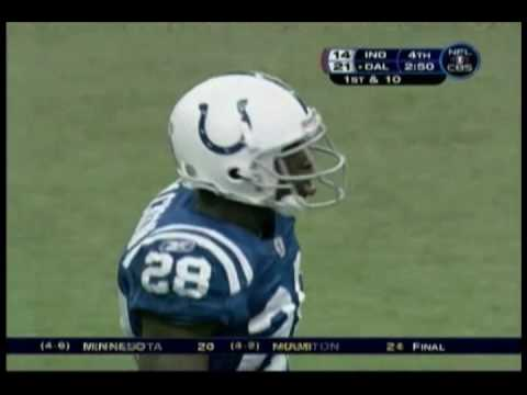 Dallas defense Red Zone stop, Romo closes out undefeated Colts 2006