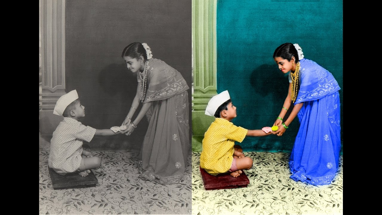How To Restore Old Black And White Photo To Colour Photo ...