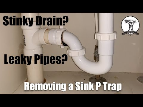 EASY: Fix a Leaky Sink P Trap or Clean a Stinky Drain