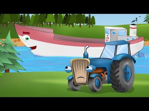 Тракторець молодець і пихатий човен. Нова серія про синього трактора на українській мові.