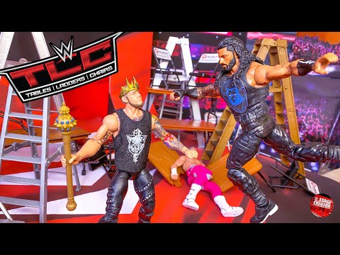 roman-reigns-vs-king-corbin-tlc-wwe-action-figure-match!-2019!